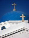 Orthodox church in mykonos traditional white with the cupola on the island Royalty Free Stock Photography