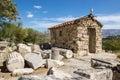 Orthodox church near acropolis athens in greek ruins greece Stock Photo