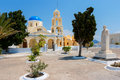 Orthodox church oia santorini greece agios georgios in island cyclades Royalty Free Stock Photos
