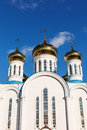 Orthodox church over blue sky Stock Photo
