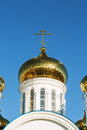 Orthodox church over blue sky over blue sky Royalty Free Stock Images