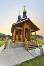 Orthodox church photo of an from a bar in the kamenka village near sea russia far east primorye territory terney region everything Royalty Free Stock Image