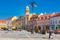 Orthodox Church at Piata Sfatului- the center of Brasov Royalty Free Stock Photo