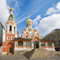 Orthodox church on Red Square, Moscow Royalty Free Stock Photo