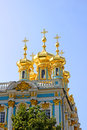 Orthodox church of Resurrection in the Catherine Palace in Pushk Royalty Free Stock Photography