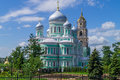 Orthodox church in russia diveevo trinity cathedral Royalty Free Stock Image