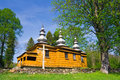 Orthodox church in rzepedz an old beskid niski mountains south eastern poland Royalty Free Stock Images