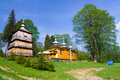 Orthodox church in rzepedz poland an old beskid niski mountains south eastern Royalty Free Stock Images