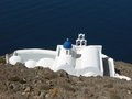 Orthodox Church in Santorini Royalty Free Stock Photo