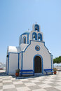 Orthodox church in santorini island greece Stock Photos