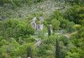 The orthodox church on shores of skadar lake at montenegro Royalty Free Stock Photo