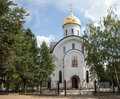 Orthodox church of st evfrosinia moscow russia russian nahimovsky avenue Stock Images