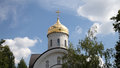 Orthodox church of st evfrosinia moscow russia russian nahimovsky avenue Royalty Free Stock Photo