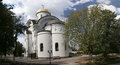 Orthodox church of st evfrosinia moscow russia russian nahimovsky avenue Royalty Free Stock Photos