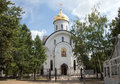 Orthodox church of st evfrosinia moscow russia russian nahimovsky avenue Stock Photography