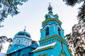 Orthodox church of st grand duke jurmala in dubulti latvia Royalty Free Stock Photography