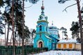 Orthodox church of st grand duke jurmala in dubulti latvia Stock Photo