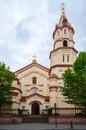 Orthodox church of st nicholas street didzioji vilnius the translation relics lithuania Royalty Free Stock Photos