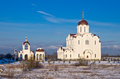 Orthodox church in tallinn of the icon of the mother of god quick to hearken winter estonia Stock Photography