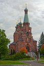 Orthodox church in tampere was designed by t u jazykov and was built it is also known as st alexander nevski and st nicolas Stock Photography