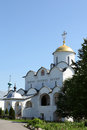 The orthodox church temple in pokrovskiy monastery suzdal russia Stock Photography