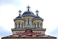 Orthodox church towers of the insight alba iulia fortress Royalty Free Stock Images