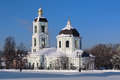 Orthodox church in Tsaritsyno, Moscow, Russia Stock Photos