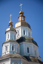 Orthodox church in ukraine kharkiv summer day Royalty Free Stock Photo