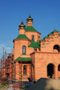 Orthodox church under construction. Kiev, Ukraine Royalty Free Stock Photo