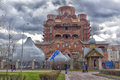 Orthodox church under construction Royalty Free Stock Photo