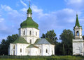 Orthodox church view in chernigov region Royalty Free Stock Photo