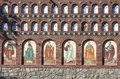 Orthodox church wall Royalty Free Stock Images