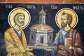 Orthodox church wall painting Royalty Free Stock Photos