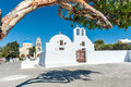 Orthodox churches in Santorini Royalty Free Stock Photo