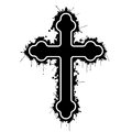 Orthodox cross illustration on a white background as a symbol of faith Stock Image