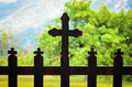Orthodox crosses decorated cross at stanisoara church in carpathians mountains romania Royalty Free Stock Photography