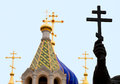 Orthodox crosses Royalty Free Stock Photo