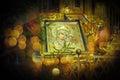 Orthodox icon of Motrer Mary. Royalty Free Stock Photo