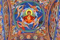 Orthodox icons in the Saint Ana-Rohia Monastery.