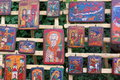 Orthodox icons on wood painted exposed Stock Photos
