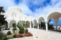 Orthodox metropolitan cathedral fira the garden at santorini greece Stock Images