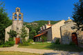 Orthodox monastery and church in budva Stock Photography