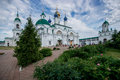 Orthodox monastery in old Russian town Rostov the Great. Royalty Free Stock Photo
