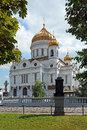 Orthodox moscow temple cathedral of christ the saviour city of russia Royalty Free Stock Photography
