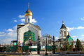 The Orthodox parish of St. Sergius of Radonezh Royalty Free Stock Photos