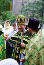 Orthodox people celebrate a Pentecost Stock Photography