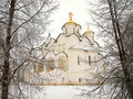 Orthodox Russia. Ancient cathedral in a Pokrovskiy Royalty Free Stock Image