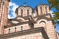 Orthodox st marks church in belgrade serbia september the main entrance and the colorful façade of of mark it is designed Royalty Free Stock Photo