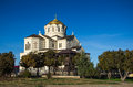 Orthodox temple against blue sky Royalty Free Stock Photos