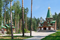 Orthodox temple complex Royalty Free Stock Photography